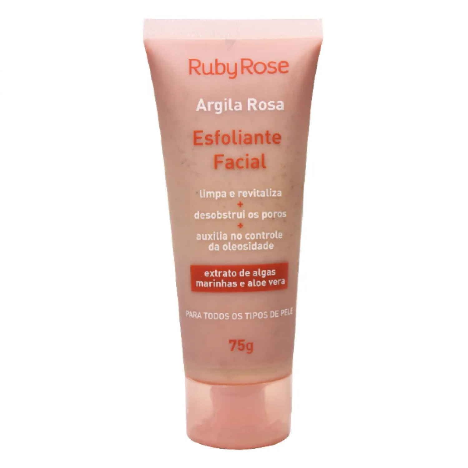 Esfoliante Facial Argila Rosa - Ruby Rose