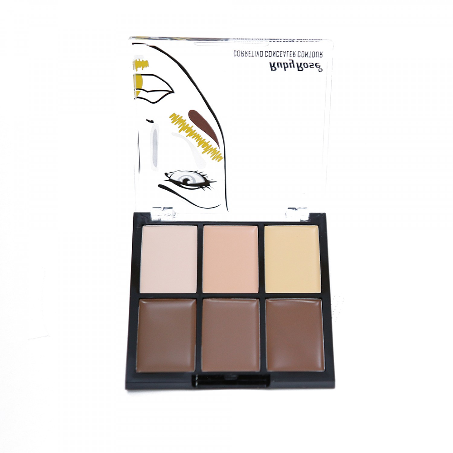 Corretivo Concealer Contour 6 cores Ruby Rose - Light