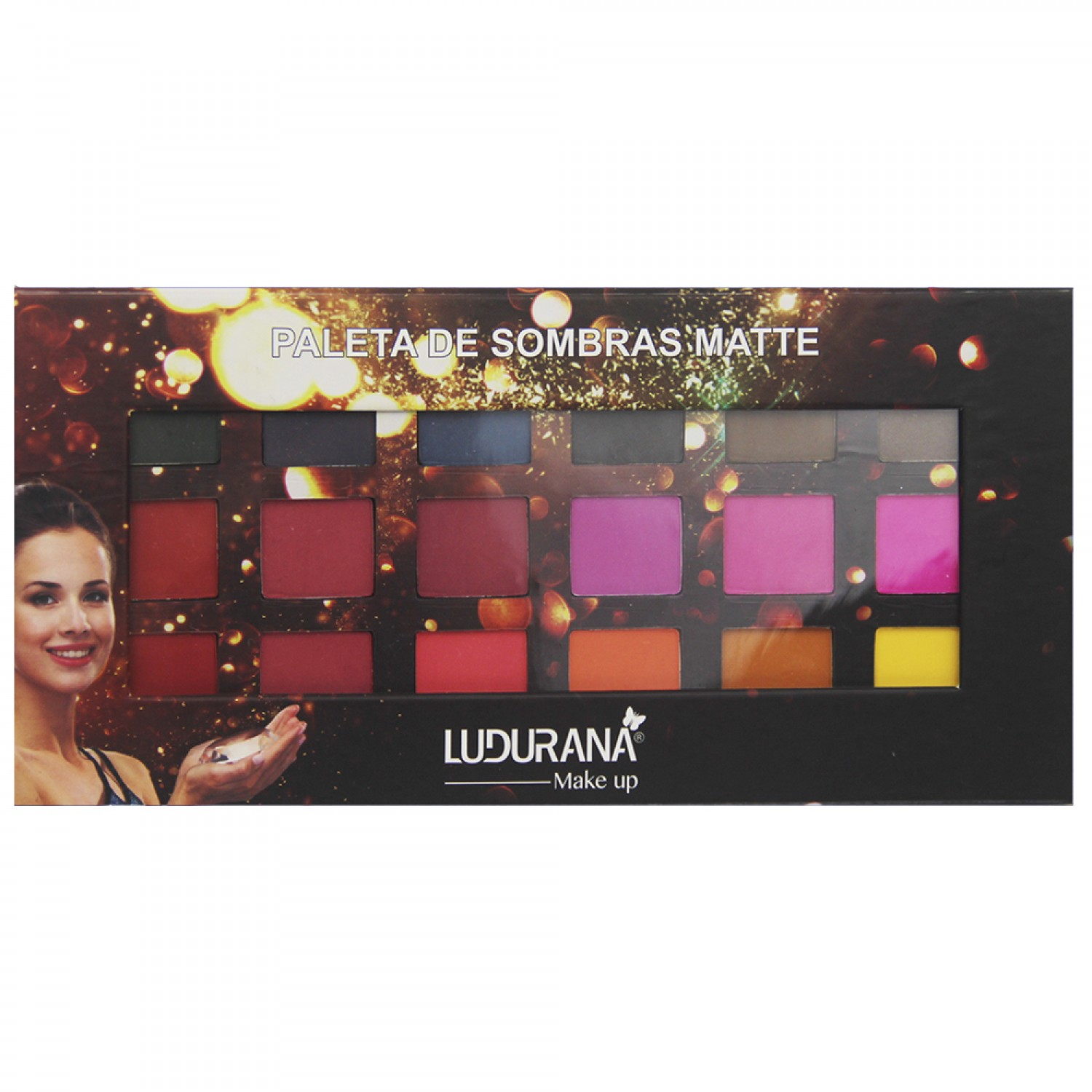 Paleta de Sombras Matte Ludurana Make Up