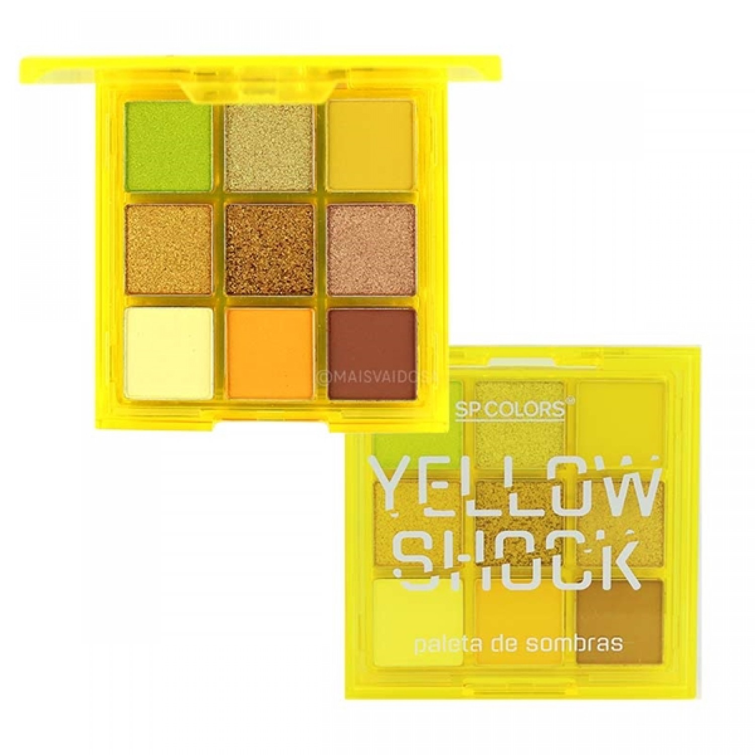 Paleta de Sombras Yellow Shock - Sp Colors