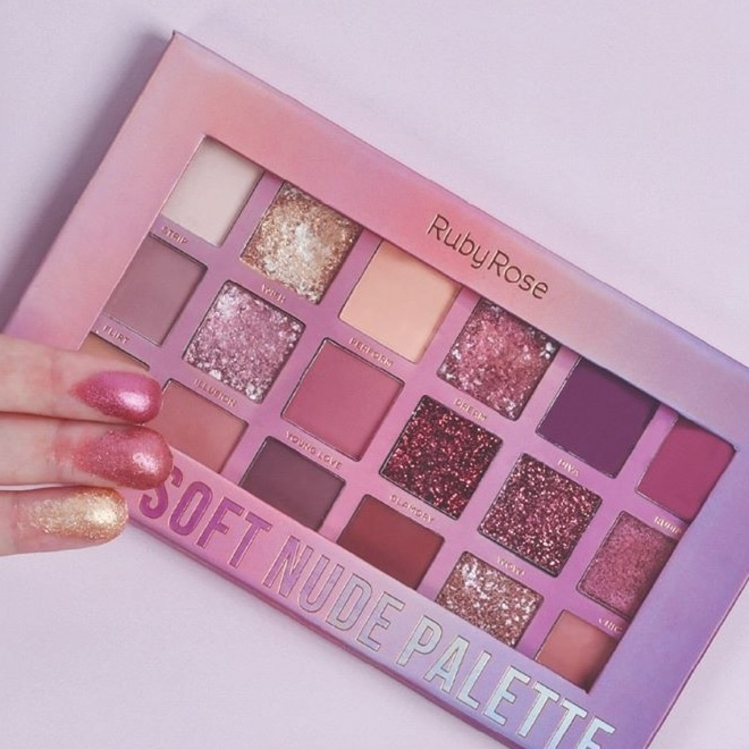 Paleta de Sombras Soft Nude Feels Ruby Rose
